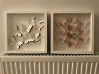 2 x IKEA Butterfly white frames (£8 for both)