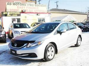 REDUCED!!  2013 HONDA CIVIC LX AUTO LOADED SPORTY 100% FINANCING