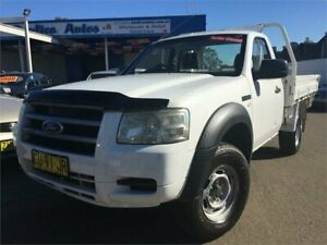 2008 Ford Ranger PJ 07 Upgrade XL (4x4) White 5 Speed Manual Cab Chassis