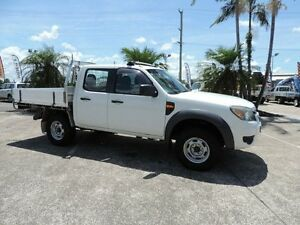 2011 Ford Ranger PK XL Crew Cab White 5 Speed Manual Cab Chassis Caboolture South Caboolture Area Preview