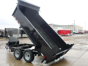 Telescopic 3 stage dump trailers in stock - 6 x 12 - 5 ton -SAVE London Ontario image 2