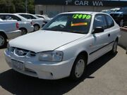 2001 Hyundai Accent LC GL White 4 Speed Automatic Hatchback Victoria Park Victoria Park Area Preview