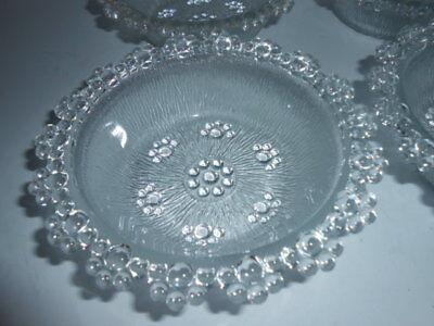 ART GLASS VINTAGE DESERT BOWLS ( SET OF 4 ) NEVER USED