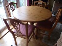 Ducal Pine Dining Table & 4 Chairs in VGC