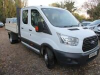 77d5e2a020 2015 Ford Transit 2.2TDCi DOUBLE CAB TIPPER 50K MILES GUARANTEED 350 L3H1 NO  VAT