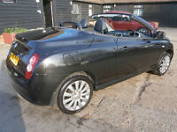 06 NISSAN MICRA C+C1.6 ESSENZA AUTOMATIC CONVERTABLE BLACK/BLACK LEATHER 47K FAB
