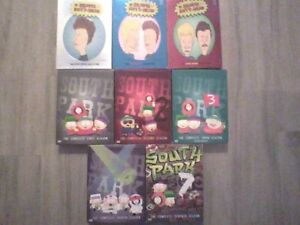 South park seasons 1,2,3,4 and 7 - beavis and butthead vol 1,2,3