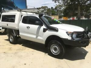 2012 Ford Ranger PX XL 3.2 (4x4) White 6 Speed Manual Super Cab Chassis Tuncurry Great Lakes Area Preview