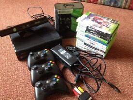 XBox 360 250GB Console + Kinect + games