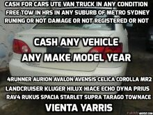 All Toyota  from 1984 to 2014 wanted 4 cash  any condition Sydney City Inner Sydney Preview