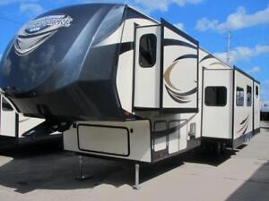 2017 HEMISPHERE 356 QB-NEW LOADED BUNKHOUSE LUXURY 5TH WHEEL!