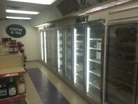 walk in cooler and equipment