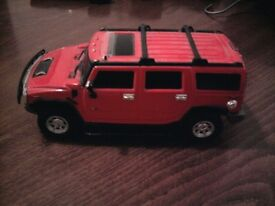 Remote Control Hummer Humvee, Red with Lights