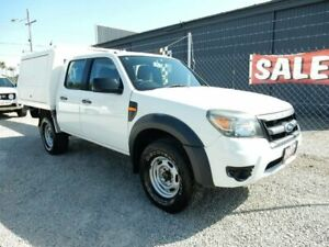 2011 Ford Ranger PK XL Crew Cab White 5 Speed Manual Cab Chassis Kippa-ring Redcliffe Area Preview