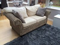 Rattan conservatory sofa and chair. Good condition. £195 (Laura Ashley)