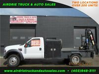 2008 Ford F-450 Reg Cab XLT 5SPD Manual Flat Deck With Picker