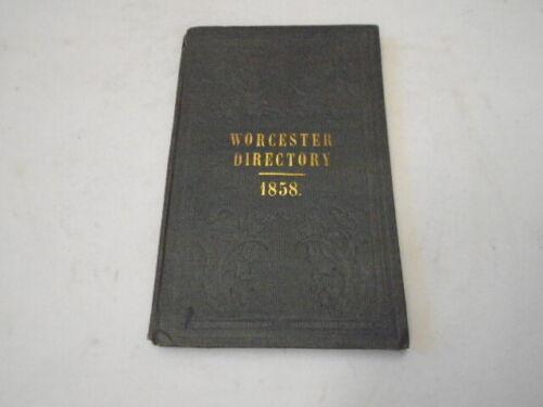 City Directory Almanac Worcester MA, 1858 Great Ads Massachusetts History