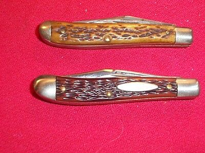 Two Vintage Ulster Knife Co. Small Peanut Type Pocket Knives