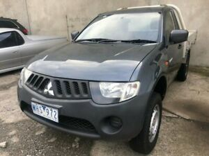2008 Mitsubishi Triton ML MY08 GL Grey 5 Speed Manual Cab Chassis Hoppers Crossing Wyndham Area Preview