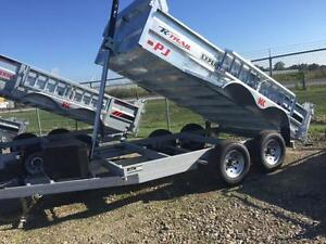 Galvanized 6x12 Dump Trailer (K-D612-10-PS-16)
