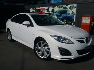 2011 Mazda 6 GH MY11 Luxury Sports White Pearl 5 Speed Auto Activematic Hatchback Greenacre Bankstown Area Preview