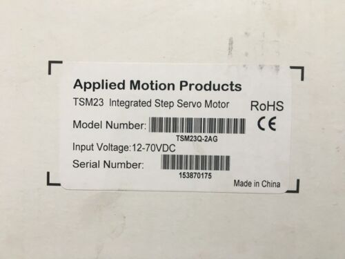 NEW* APPLIED MOTION TSM 23Q-2AG INTEGRATED STEP SERVO MOTOR (TSM23Q-2AG)