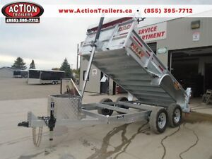 GALVANIZED DUMP TRAILER 5 TON - 6 X 12 WITH MORE FEATURES N&N London Ontario image 1