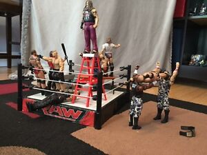 WWE ring and action figures and few extras