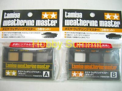 Tamiya 3-color A B WEATHERING MASTER Paint Tank Armored Vehicle 87079 87080