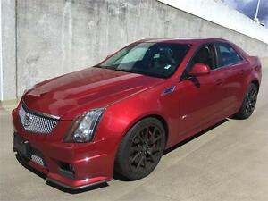 2010 Cadillac CTS-V red with light interior 76.000 km 556 HP