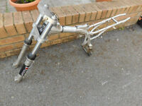 Motorbike frame, Dir bike, 110cc, 2004, no idea otherwise so cheap to clear