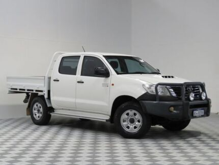 2012 Toyota Hilux KUN26R MY12 SR (4x4) White 4 Speed Automatic Dual Cab Pick-up Atwell Cockburn Area Preview