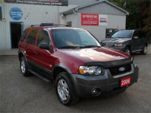 2006 Ford Escape XLT| NO RUST| 4X4| WELL SERVICED|SUNROOF|ALLOY