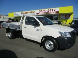 2015 Toyota Hilux TGN16R MY14 Workmate 4x2 White 4 Speed Automatic Cab Chassis Kedron Brisbane North East Preview