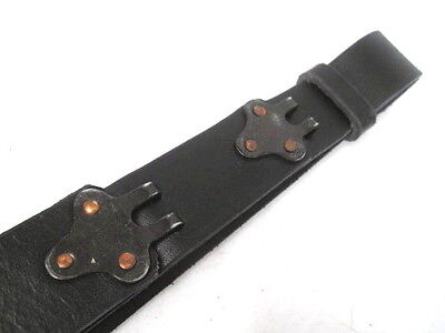 M1 Garand M1903 Springfield Rifle US GI M1907 Black Leather Sling for sale  Henderson