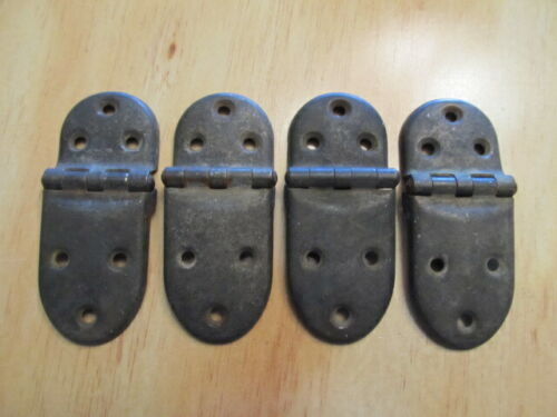 Vintage Metal Ice Box Offset Hinges set of four