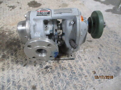 Tuthill Pump Model 040504100111 25a-ss Shaft Size 3x1 117903m Rebuilt