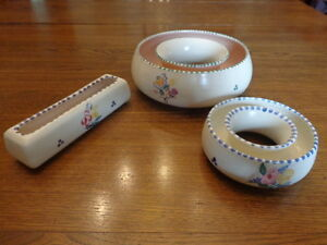 Poole Pottery Posy Rings and Trough
