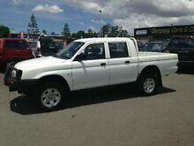 2003 Mitsubishi Triton MK MY02 GLX Double Cab White 5 SPEED Manual Utility Greenslopes Brisbane South West Preview