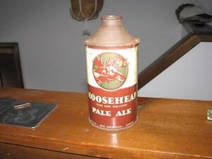Cone top beer can Moosehead pale ale
