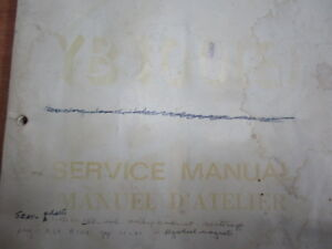 YAMAHA YB100E SERVICE MANUAL