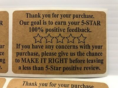 100 Ebay Amazon Etsy Thank You For Your Purchase Stickers 2 x 3 Label Labels NEW (Etsy Ebay)