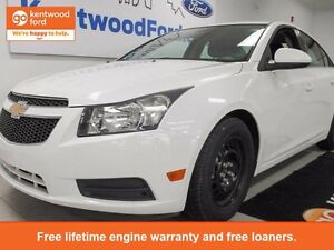 2014 Chevrolet Cruze 1LT pearl white with a wicked red and black