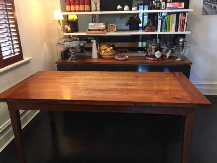 Dining table, double extension, timber. Australian craftsman made