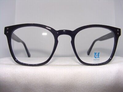 NEW LARGE SQUARE BLACK EYEGLASS FRAME SIZE 48-20 ()