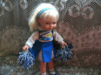 """16"""" FP MANDY 88 CHEERLEADER BLONDE DOLL,OUTFIT,POMPOMS, BOX"""