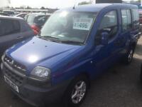 2001 Fiat Doblo D Elx **Wheel Chair Access** 1.9