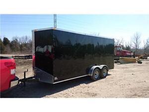 WINTER CLEARANCE** · BEST PRICE ON 7X16 V NOSE CARGO TRAILERS