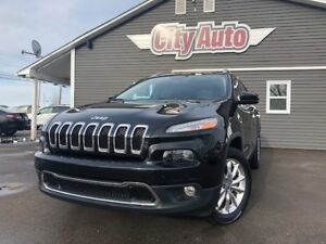 2016 Jeep Cherokee Limited  Heated Leather  4X4  Navigation