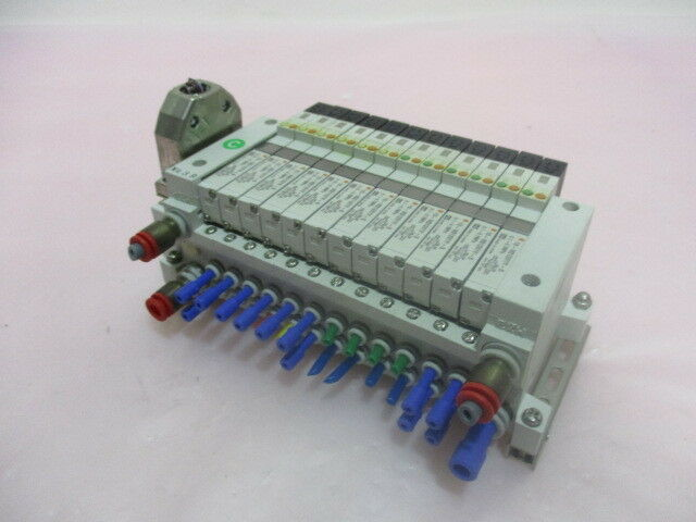 SMC 10-VQ1101Y-5, 12 Station Pneumatic Manifold Assembly. 416319